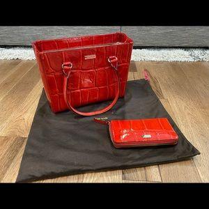 Kate Spade Knightsbridge Quinn handbag AND Knightsbridge Neda wallet